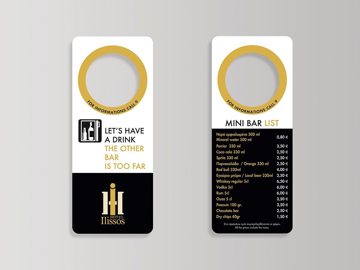 menu minibar
